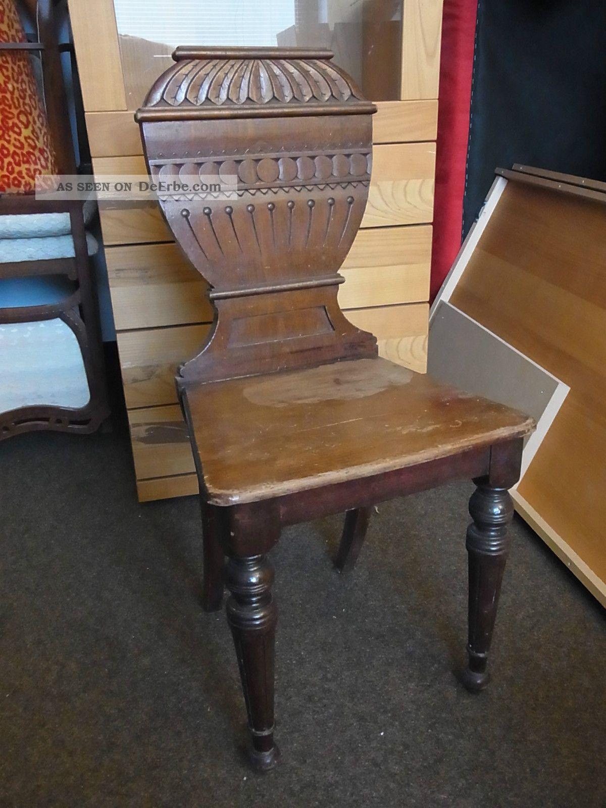 holz stuhl antik massiv geschnitzt lehne loft shabby. Black Bedroom Furniture Sets. Home Design Ideas