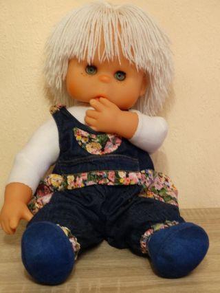 Alte Sehr Seltene Ddr Puppe Mit Wollhaare Ca.  50 Cm.  80er Jahre.