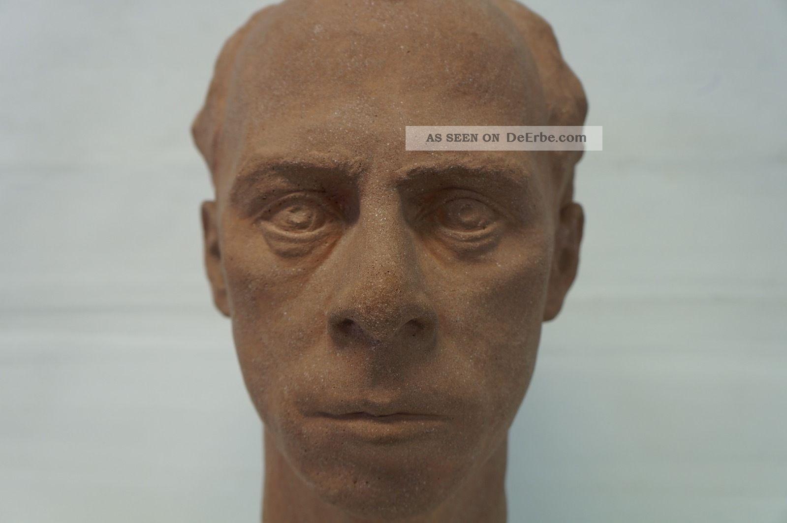 Kopf Eines Mannes - Man Head Sculpture - Skulptur - Bildhauer - Signiert 1950-1999 Bild