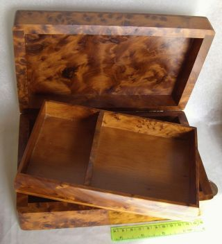 Antike Schöner Seltener Wertvoller Wurzelholz Box Holzdose Holzschachtel Schmuck Bild