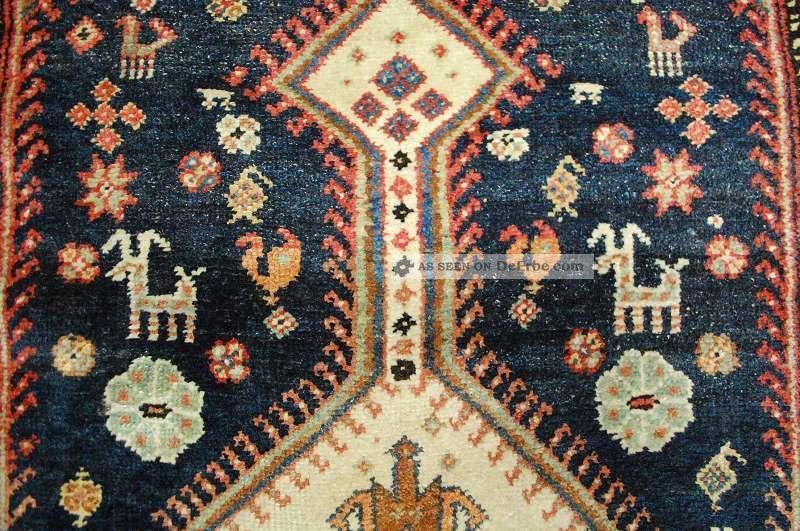 Antiker Hamedan Tappeto Tapis Rug Ca:290x190cm Antique Rug Teppiche & Flachgewebe Bild
