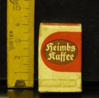 Alte Pappschachtel Für Den Kaufladen,  Heimbs Kaffee,  Heimbs & Sohn,  Braunschweig Bild
