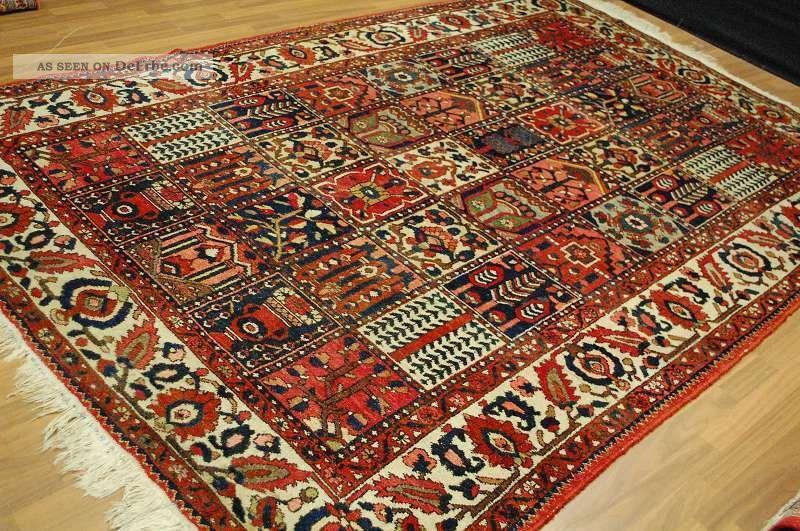 Antiker Bakhtiyar Tappeto Tapis Rug Ca:310x210cm Antique Rug Teppiche & Flachgewebe Bild