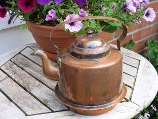 Alter Kupfer Kessel - Teekessel Wasserkessel - Grillby Sweden Metallfabrik 2,  5 L Bild