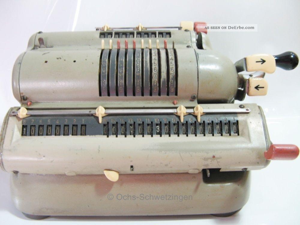 Walther Wsr - 160 / Mechanische Rechenmaschine Um 1960 - Maße:15,  6 X 29,  0 X 13,  9 Cm Kaufleute & Krämer Bild