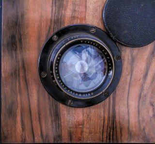 Messing Objektiv Carl Zeiss Tessar 1:4,  5 F= 25 Cm F.  Atelierkameras 18x24 - 1000g Bild