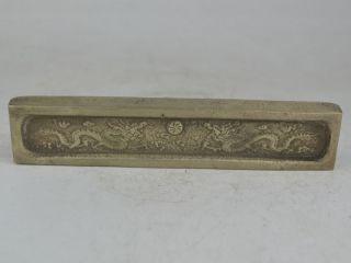 Collectible Exquisite Old Tibet Silver,  Silver Bar,  Coin Carving Dragon Bild