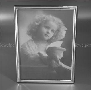 Klassisch Dezenter Silber - Fotorahmen Bilderrahmen Massiv 925 Sterling Silber Bild