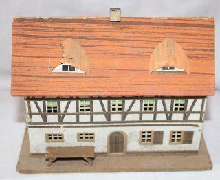 Auflösung Erzgebirgs Sammlung Altes Lichterhaus Handarbeit Pappe Papier Bild