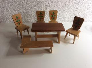 Puppenstuben Möbel Sitzgruppe Gemalt Bild