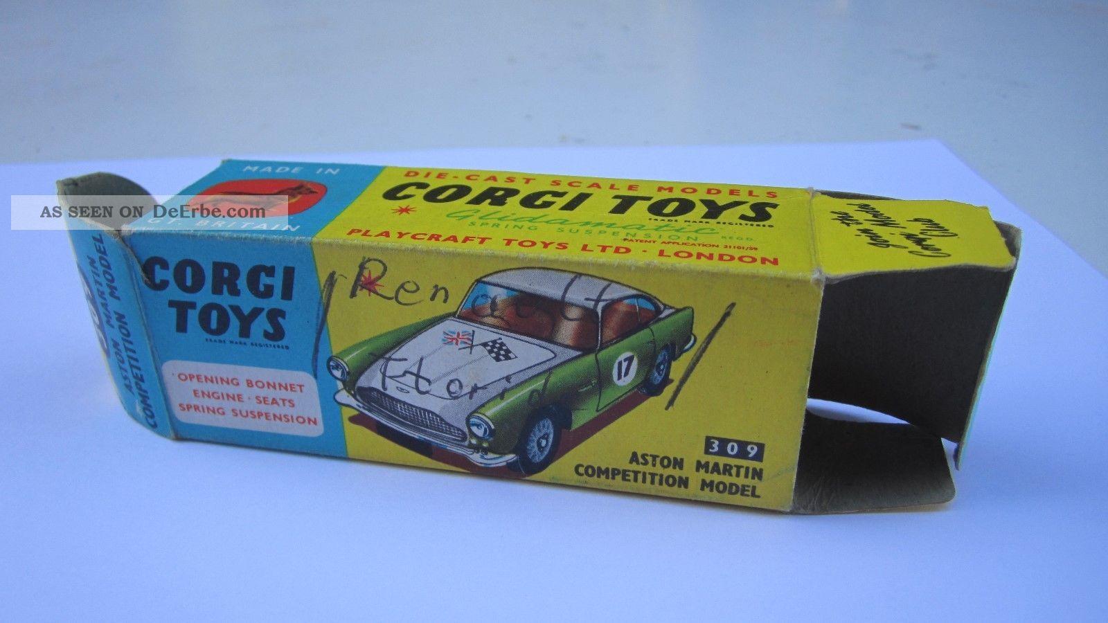 Corgi Toys 309 Aston Martin Leerschachtel Empty Box Fahrzeuge Bild