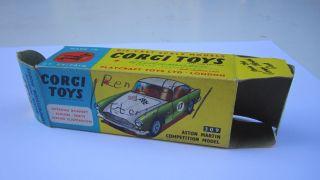 Corgi Toys 309 Aston Martin Leerschachtel Empty Box Bild