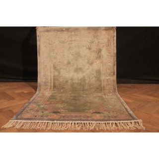 Fein Handgeknüpfter Seiden China Art Deco Peking Teppich Silk 150x90cm Carpet Bild
