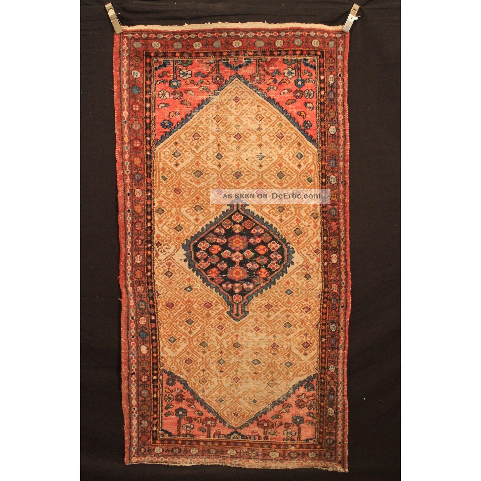 Alt Handgeknüpfter Orient Teppich Malaya Kurde Old Rug Carpet Tappeto 200x100 Teppiche & Flachgewebe Bild