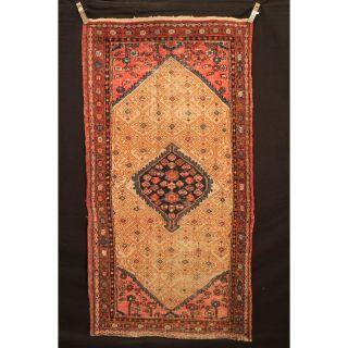 Alt Handgeknüpfter Orient Teppich Malaya Kurde Old Rug Carpet Tappeto 200x100 Bild