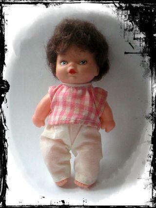 Altes Baby PÜppchen 12 Cm Puppenstube Spielzeug Rarität Baby Doll Bild