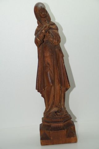 Alte Geschnitzte Figur,  Darstellung Einer Frau Eventuell Beistellfigur Für Kreuz Bild