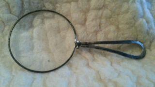 Schönes Altes Monokel Klappbrille Lorgnette Silber? 5,  5 Cm Durchmesser Bild