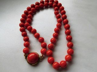 Korallen Kette,  Gold 333 / 9k,  Red Natural Coral Necklace Bild
