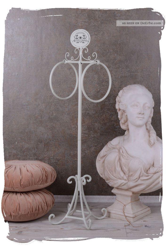 handtuchst nder shabby chic handtuchhalter weiss badezimmer vintage. Black Bedroom Furniture Sets. Home Design Ideas