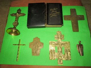 Gesangbuch 1904,  Kruzifix,  Hausaltar,  Christliche Kreuze, Bild
