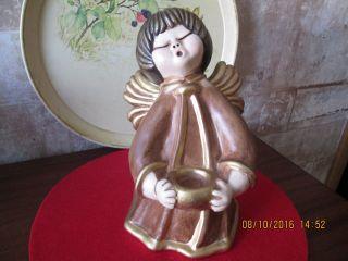 Bozener Engel Weihnachtsengel Xl Ca 25cm Thun Hell Braun Mit Gold Bild