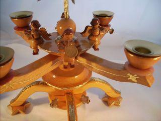 Festleuchter Adventsleuchter 8 Engel Kerzenleuchter & 4 Sternschnuppen Blattgold Bild