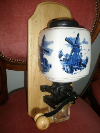 Alte Wand Kaffeemühle Keramik Holz Keramik Groß Bild