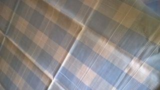 Schöne Alte Leinen Tischdecke 160 X 135 Cm Blau / Weiß Shabby Chic Vintage Bild