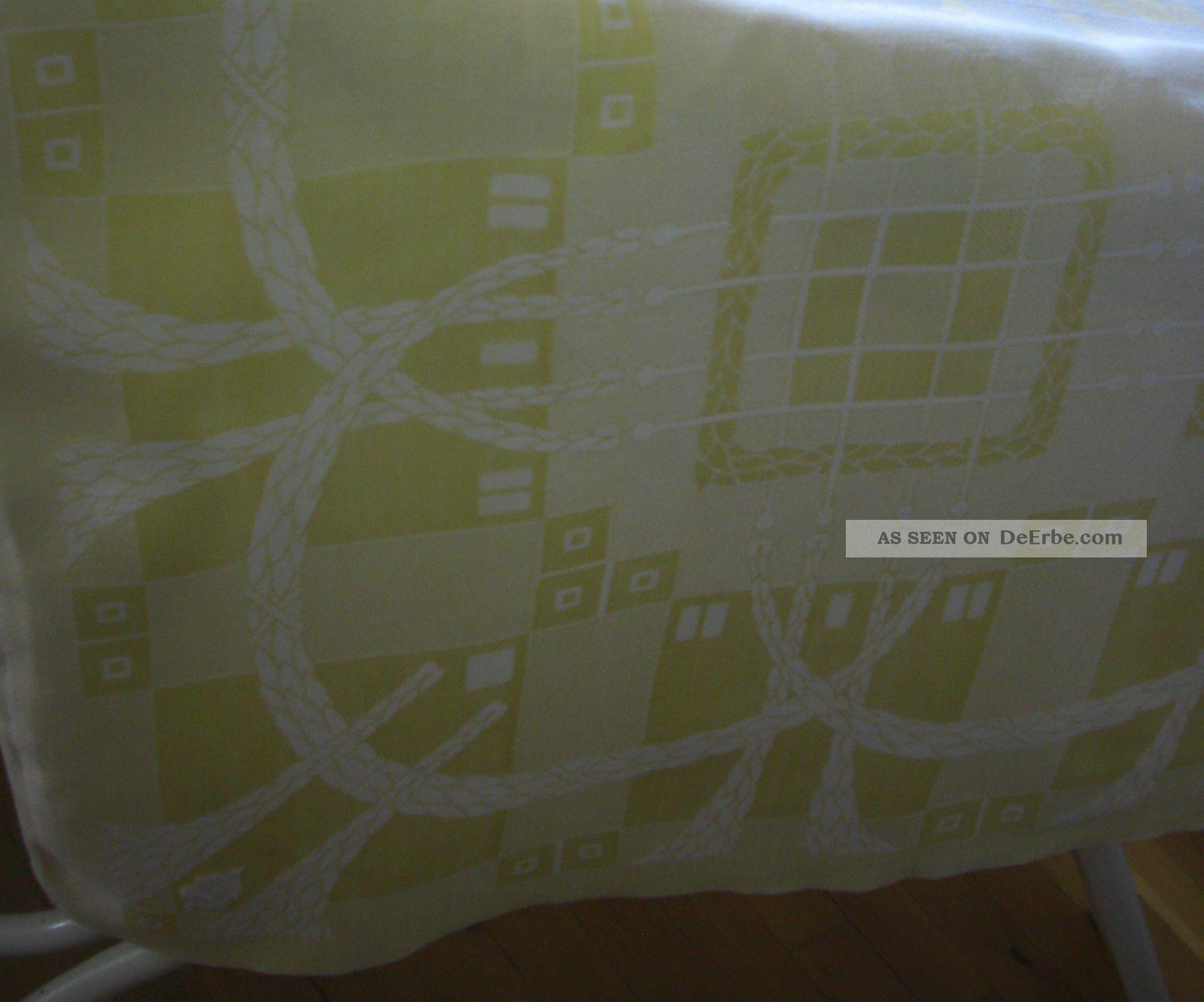 Tischdecke Decke Jugendstil/art Deco Leinen Damast Schönes Muster Monogramm I M Tischdecken Bild