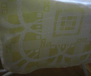Tischdecke Decke Jugendstil/art Deco Leinen Damast Schönes Muster Monogramm I M Bild