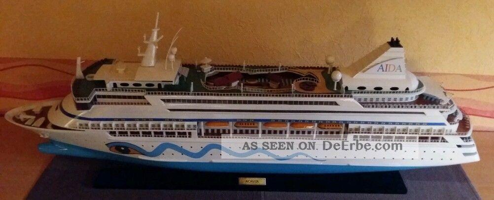 Aida Kreuzfahrtschiff Modell Groß,  Holzmodell Der Aidavita,  Rarität Modellschiff Maritime Dekoration Bild