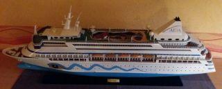 Aida Kreuzfahrtschiff Modell Groß,  Holzmodell Der Aidavita,  Rarität Modellschiff Bild