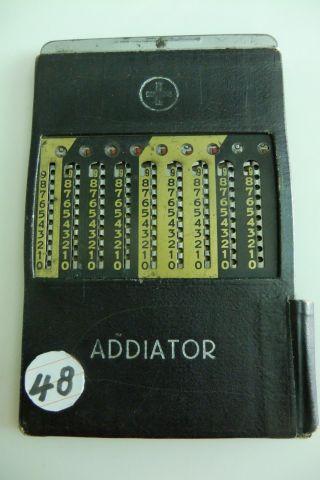 (48) Antiker Taschenrechner Addiator Supra 20/30 Jahre Bild