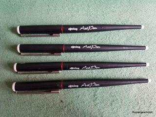 4 Rotring Art Pen 1.  1,  1.  5,  1.  9 Und 2.  3 Feder Patronenfüller Füllhalter Bild
