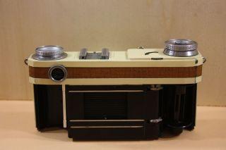 Analog Kamera Contax Weiß Mit Leder Sonnar Objektiv 1:2 F5cm T Bild