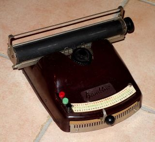 Alte Schreibmaschine Old Type Writer Kinderschreibmaschine Bambino Top Erhalten Bild