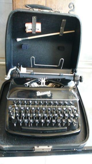 Antike Rheinmetall Schreibmaschine S 09/2552 Schwarz Mit Koffer Traumzustand Bild
