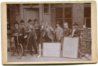 Cdv Kabinett Foto,  Tachymeter,  Theodolit,  Parlamentar.  Syphon Verein 1899 Bild