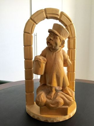 Alois Ohmayer / Ein MÜnchner Im Himmel Holz Figure,  Handgeschitzt Um 1960 - 1970 Bild
