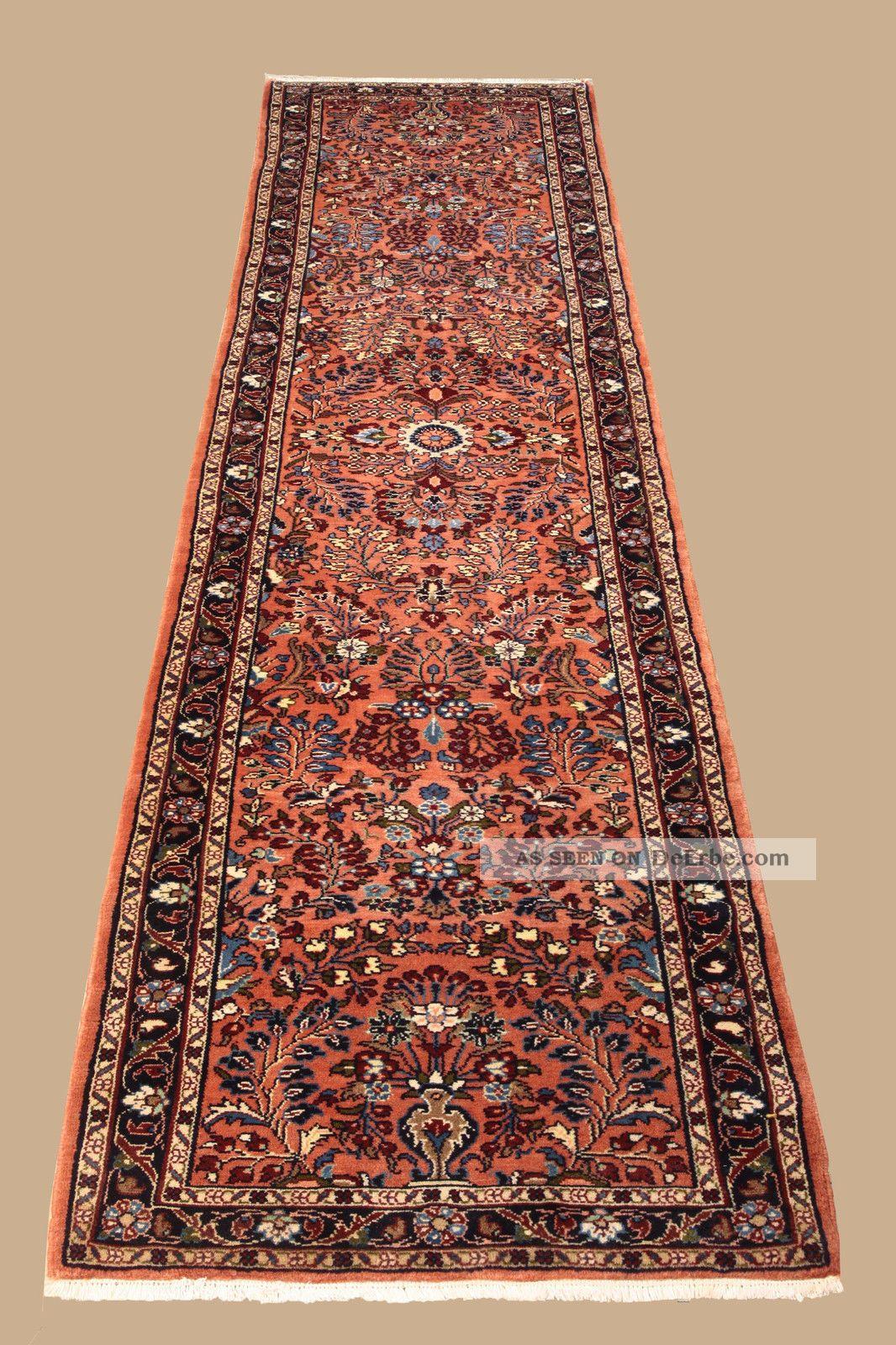 Handgeknüpfter Persischer Teppich - Läufer Ca.  (306x80 Cm) Fachmännisch Gereinigt Teppiche & Flachgewebe Bild