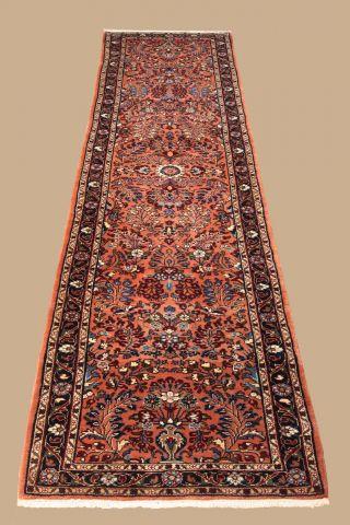 Handgeknüpfter Persischer Teppich - Läufer Ca.  (306x80 Cm) Fachmännisch Gereinigt Bild