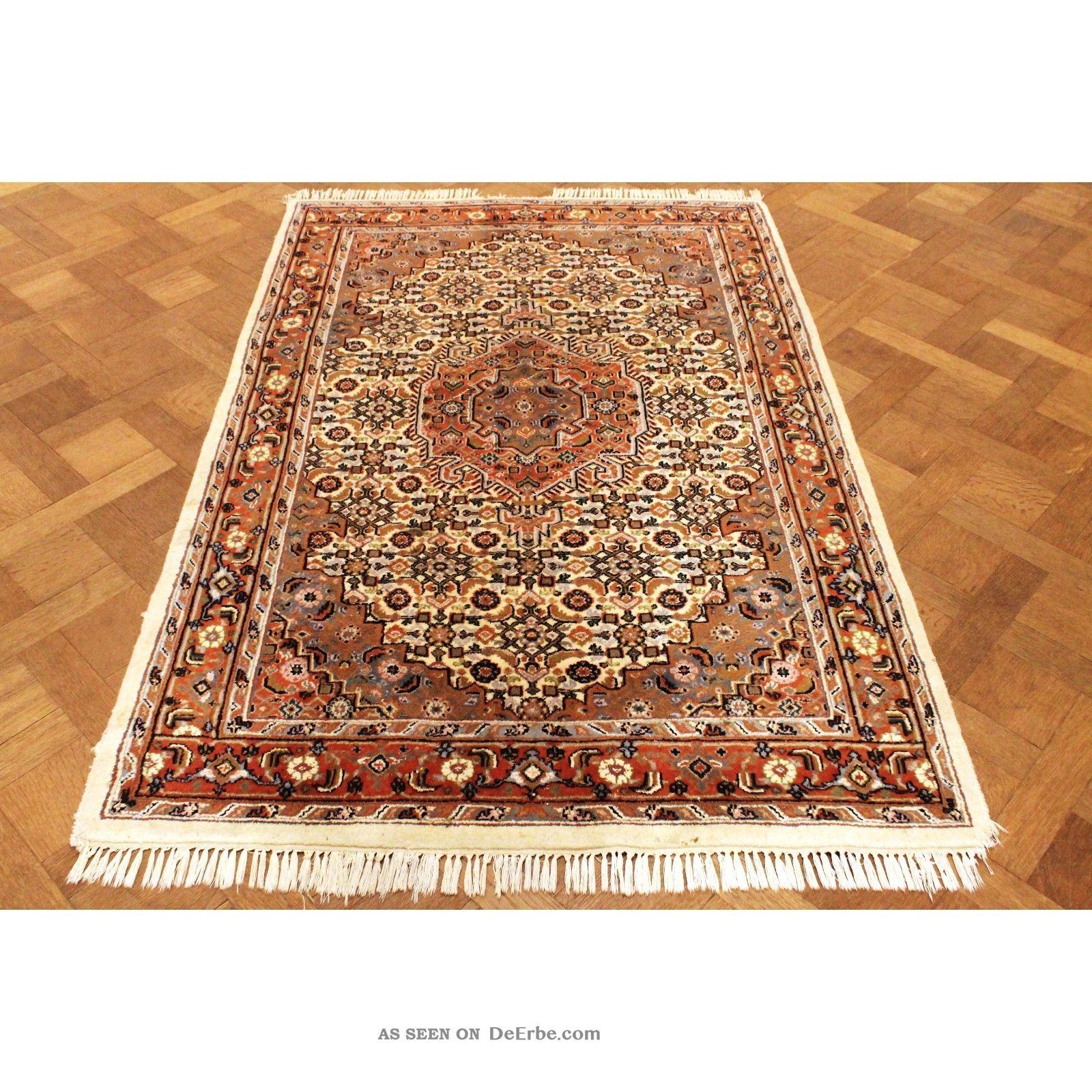 Schön Handgeknüpfter Blumen Perser Teppich Herati Nain Carpet Tappeto 138x210cm Teppiche & Flachgewebe Bild