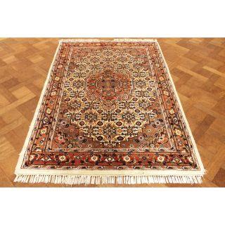 Schön Handgeknüpfter Blumen Perser Teppich Herati Nain Carpet Tappeto 138x210cm Bild