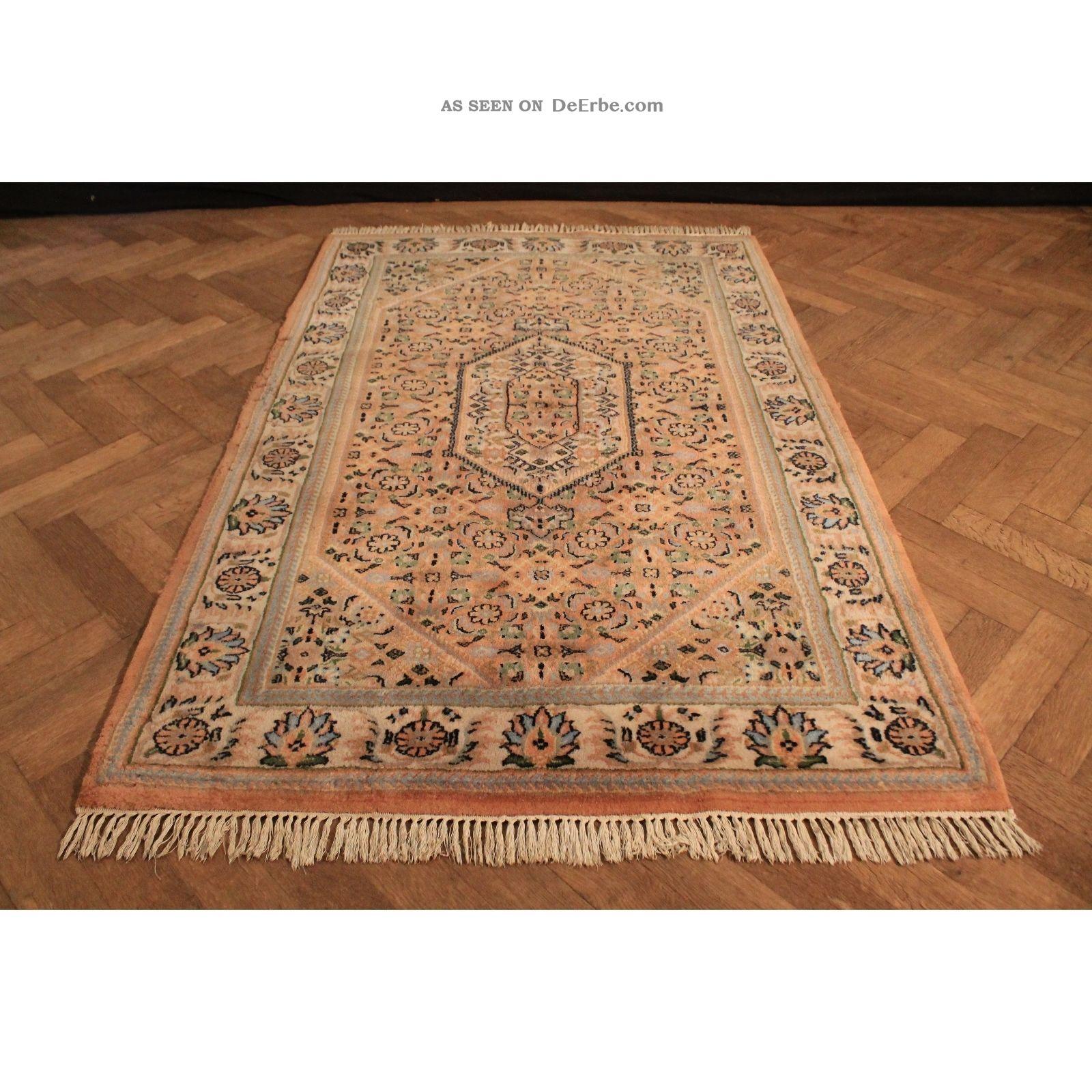 Alter Handgeknüpfter Blumen Orient Teppich Herati Nain Kum Carpet Rug 130x200cm Teppiche & Flachgewebe Bild