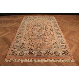 Alter Handgeknüpfter Blumen Orient Teppich Herati Nain Kum Carpet Rug 130x200cm Bild
