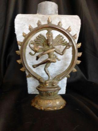 Tanzender Shiva In Flammender Aureole,  Bronzeskulptur Indien,  Mitte 20.  J.  H.  : Bild