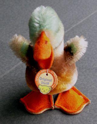 Kleine Ente Von Steiff Ca.  1964 Mit Schild Und Knopf Im Flügel,  Unbesp. Bild