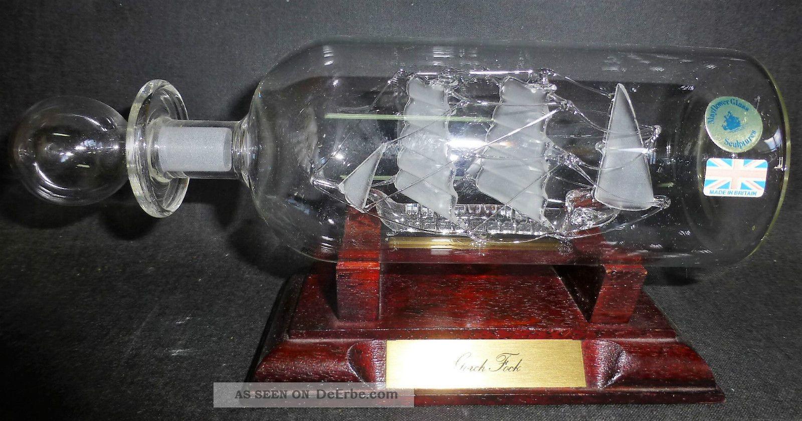 Mayflower Glass - Flaschenschiff - Buddelschiff - Schiff - Gorch Fock Maritime Dekoration Bild