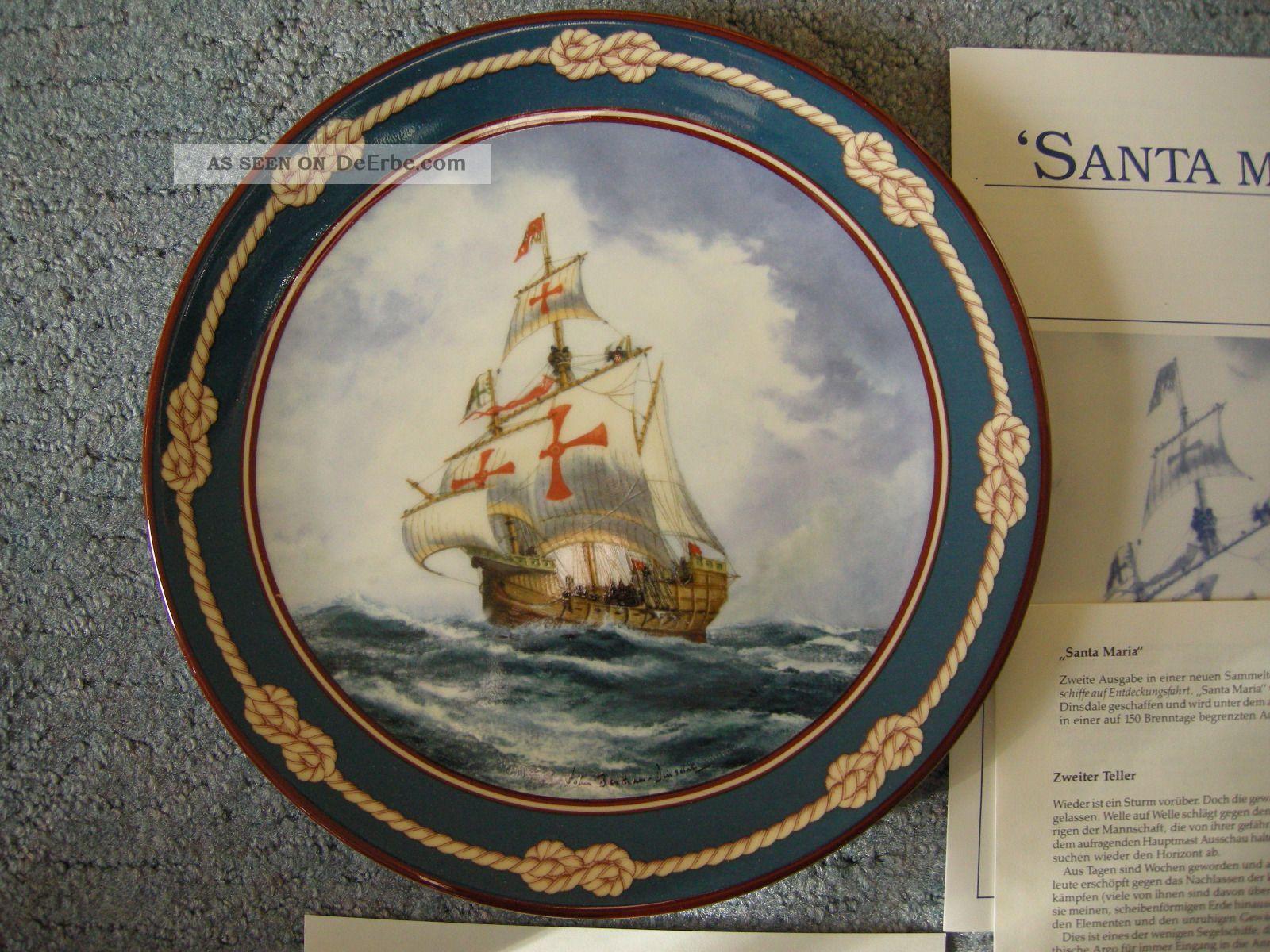 Royal Doulton Sammelteller Santa Maria Bentham - Dinsdale 26 - R62 - 26.  2 Nautika & Maritimes Bild